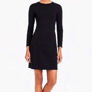 J. Crew Ponte Sheath Dress Long Sleeve Black 0